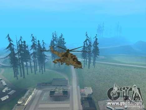 Mi-24 p for GTA San Andreas interior