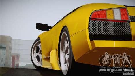 Lamborghini Murcielago 2002 v 1.0 for GTA San Andreas back left view