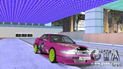Nissan Silvia S13 Sword Art Online for GTA San Andreas inner view