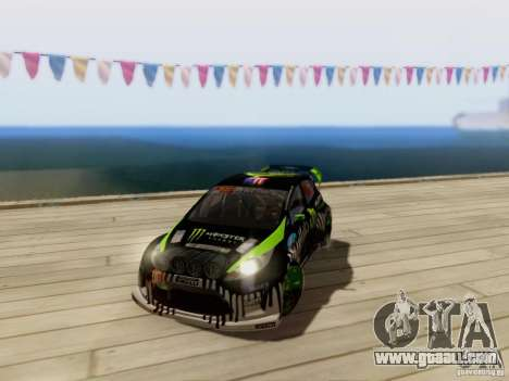 Ford Fiesta Gymkhana 3 for GTA San Andreas back view