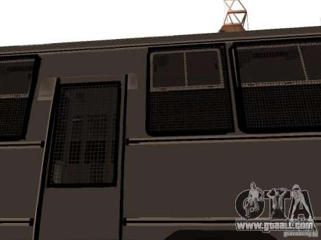 Mercedes Benz SWAT Bus for GTA San Andreas side view