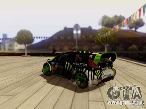 Ford Fiesta Gymkhana 3 for GTA San Andreas right view