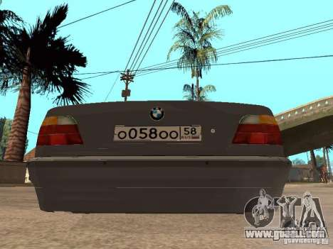 BMW 750i for GTA San Andreas inner view