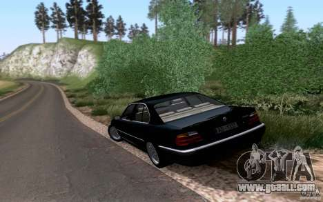BMW 730i E38 for GTA San Andreas back view
