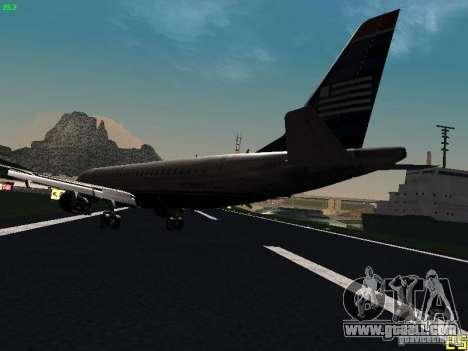 Embraer ERJ 190 USAirways for GTA San Andreas back left view