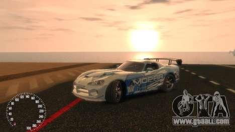 Dodge Viper SRT-10 Mopar Drift for GTA 4 right view