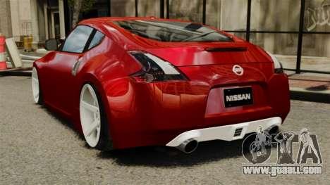 Nissan 370Z 2010 for GTA 4 back left view