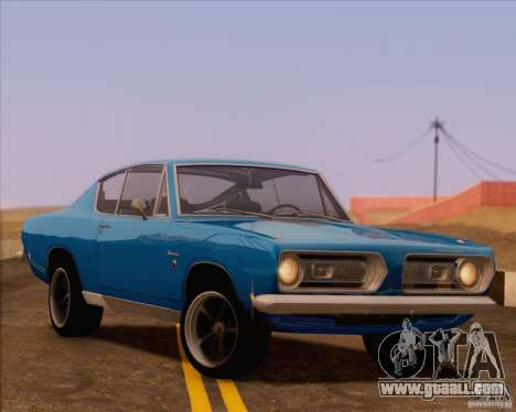 Plymouth Barracuda 1968 for GTA San Andreas