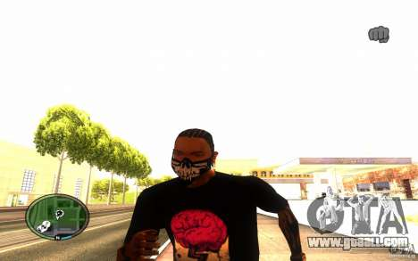 Skull Mask for GTA San Andreas fifth screenshot