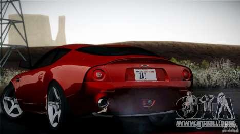 Aston Martin DB7 Zagato 2003 for GTA San Andreas inner view