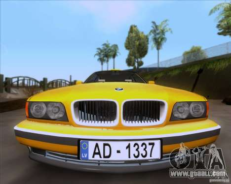 BMW 730i E38 1996 Taxi for GTA San Andreas right view