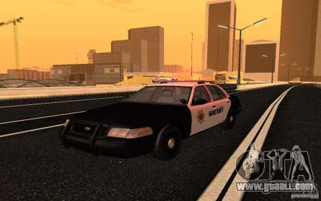 Ford Crown Victoria Police for GTA San Andreas right view