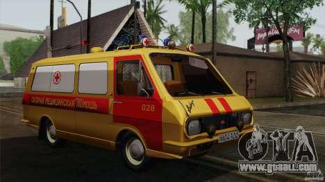 RAF 22031 Latvija ambulance for GTA San Andreas back view