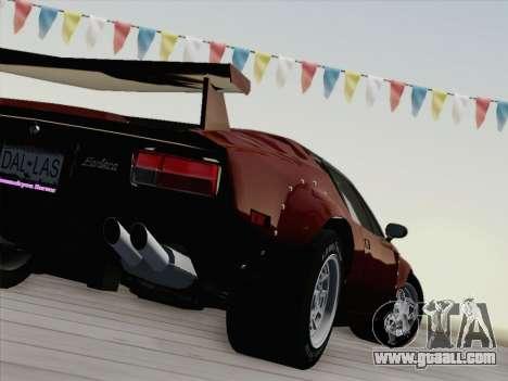 De Tomaso Pantera GT4 for GTA San Andreas upper view