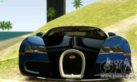 Bugatti Veyron for GTA San Andreas back view