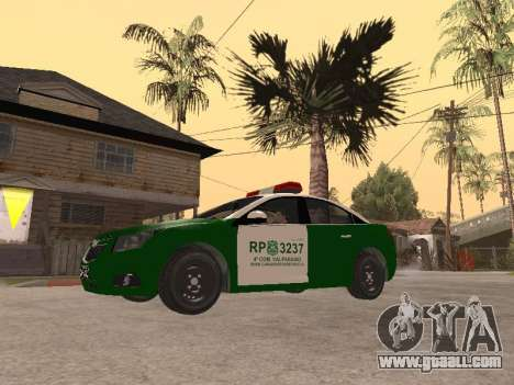 Chevrolet Cruze Carabineros Police for GTA San Andreas left view