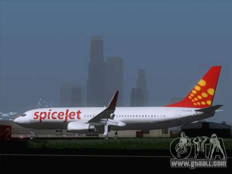 Boeing 737-8F2 Spicejet for GTA San Andreas right view