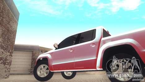 Volkswagen Amarok TDI Trendline 2013 for GTA San Andreas right view