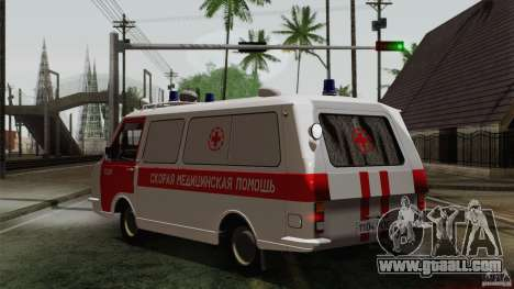 RAF 22031 Latvija ambulance for GTA San Andreas left view