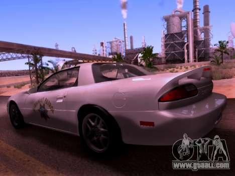 Chevrolet Camaro 2002 California Highway Patrol for GTA San Andreas left view