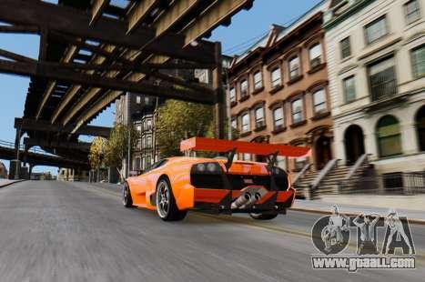 Lamborghini Murcielago RSV FIA GT1 for GTA 4 right view