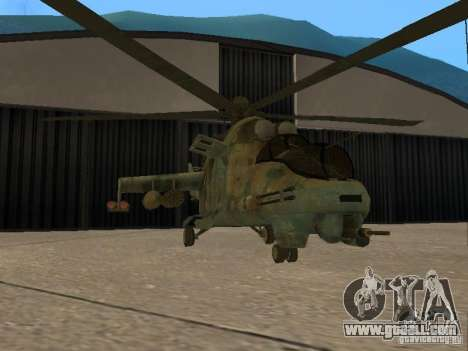 Mi-24 p for GTA San Andreas back view