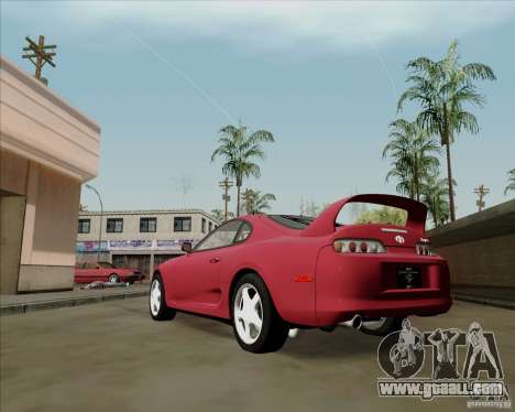 Toyota Supra RZ 98 Twin Turbo for GTA San Andreas back left view