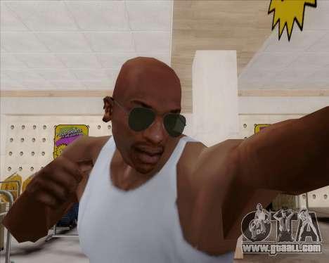 Green sunglasses Aviators for GTA San Andreas third screenshot