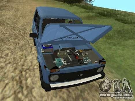 VAZ 21214 Niva for GTA San Andreas inner view