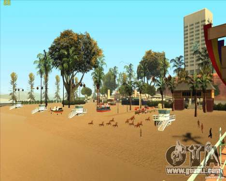 Modern beach in Los-Santos for GTA San Andreas