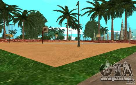 New textures basketball court for GTA San Andreas third screenshot