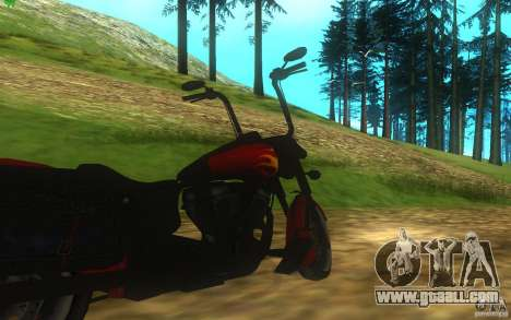 Motorcycle from Mercenaries 2 for GTA San Andreas back view