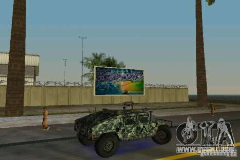 Hummer HMMWV M-998 1984 for GTA Vice City right view
