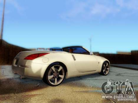 Nissan 350Z Cabrio for GTA San Andreas left view