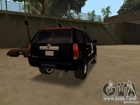 Cadillac Escalade Tallahassee for GTA San Andreas back left view