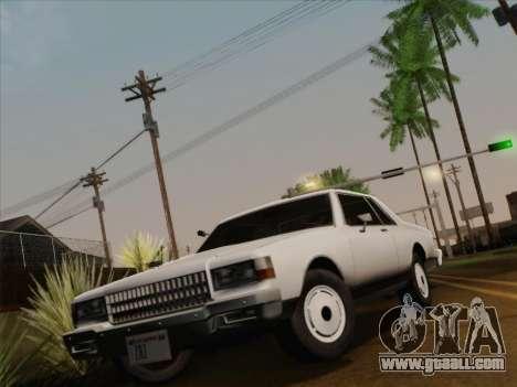 Chevrolet Caprice 1986 for GTA San Andreas interior