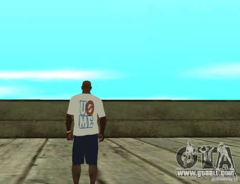 WWE John Cena t shirt for GTA San Andreas second screenshot