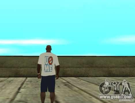 WWE John Cena t shirt for GTA San Andreas second screenshot