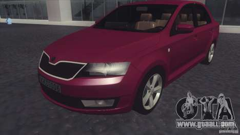 Skoda Rapid 1.6 C.R TDi 2013 V1 for GTA San Andreas