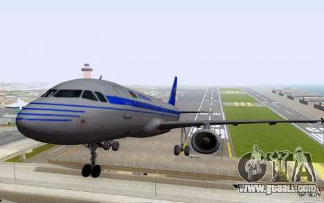 Airbus A-319 Azerbaijan Airlines for GTA San Andreas left view