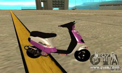 Piaggio ZIP for GTA San Andreas left view
