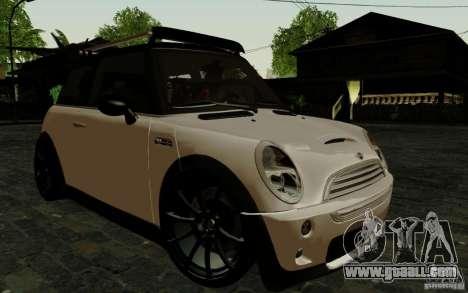 Mini Cooper S Tuned for GTA San Andreas back left view