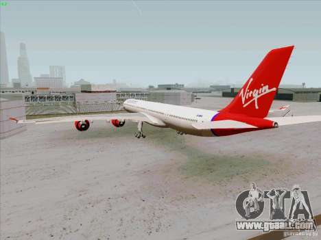 Airbus A-340-600 Virgin for GTA San Andreas right view
