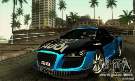 Audi R8 Spyder Tunable for GTA San Andreas upper view