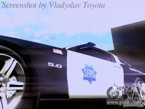 Ford Mustang GT 2011 Police Enforcement for GTA San Andreas upper view