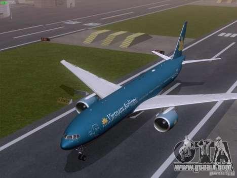 Boeing 777-2Q8ER Vietnam Airlines for GTA San Andreas inner view