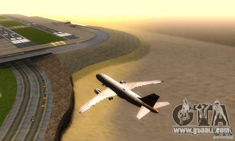 Airbus A319 British Airways Olympic Dove for GTA San Andreas right view