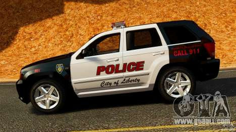 Jeep Grand Cherokee SRT8 2008 Police [ELS] for GTA 4 left view