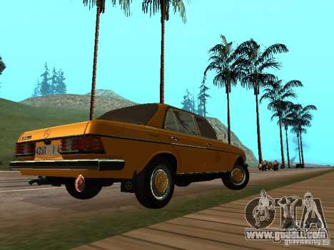 Mercedes-Benz 240D Taxi for GTA San Andreas back left view