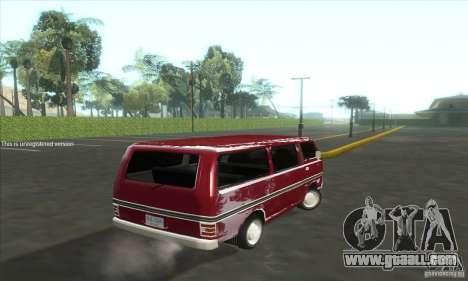 Nissan Caravan E20 for GTA San Andreas back left view